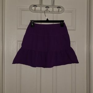 🌻Girls ruffled purple skirt.